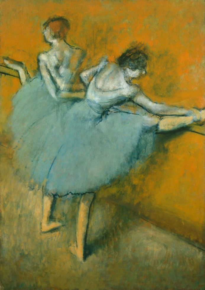 Degas, Edgar: Dancers at the Barre. Fine Art Print/Poster. Sizes: A4/A3/A2/A1 (003745)